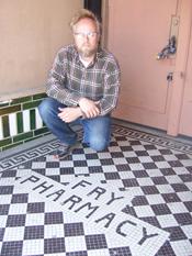 Scott McEwen at his Fry Pharmacy recording studio