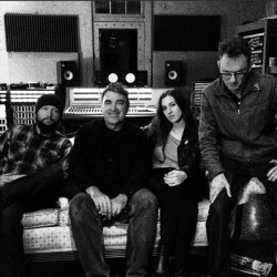 """Jessica Lee Wilkes with the """"Dream Team"""" at Fry Pharmacy Recording"""